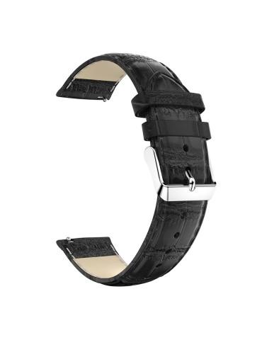Δερμάτινο λουράκι crocodile pattern για το  HiFuture HiGear- Black