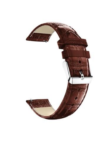 Δερμάτινο λουράκι crocodile pattern  για το HiFuture HiGear- Brown