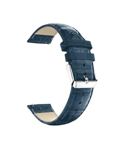 Δερμάτινο λουράκι crocodile pattern για το HiFuture HiGear  - Dark Blue