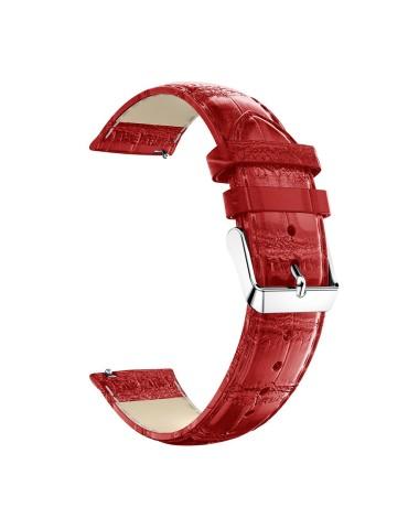 Δερμάτινο λουράκι crocodile pattern  για το HiFuture HiGear- Red