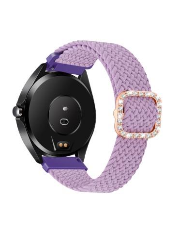 Nylon λουράκι με κούμπωμα με strass για το HiFuture HiGear- Purple