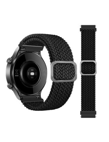 Nylon λουράκι  Braided Rope για το Huawei Watch 3 (46mm) / Huawei watch 3 Pro (48mm) / Huawei Watch GT 2 Pro (47mm) / Honor GS Pro 48mm- Black