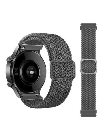 Nylon λουράκι  Braided Rope για το Huawei Watch 3 (46mm) / Huawei watch 3 Pro (48mm) / Huawei Watch GT 2 Pro (47mm) / Honor GS Pro 48mm- Grey