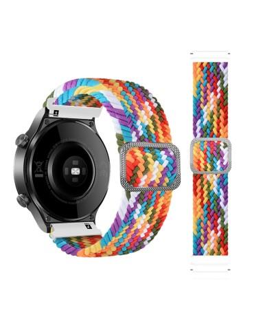 Nylon λουράκι  Braided Rope για το Amazfit GTR 47mm - Rainbow