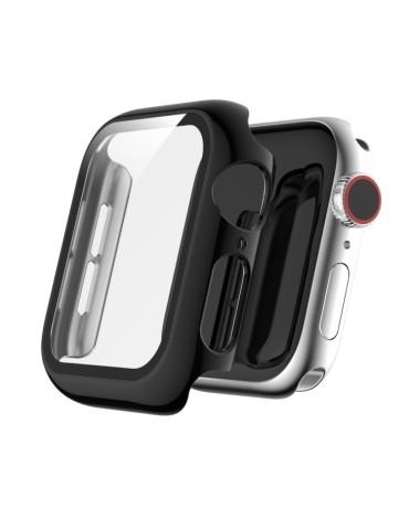 Θήκη σιλικόνης προστασίας με ενσωματομένη προστασία οθόνης για το Apple Watch Series 5 & 4 44mm(Black)