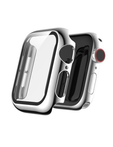 Θήκη σιλικόνης προστασίας με ενσωματομένη προστασία οθόνης για το  Apple Watch Series 5 & 4 44mm (Silver)