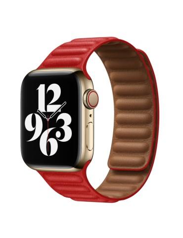 Δερμάτινο λουράκι με οριζόντιες γραμμές για το Apple Watch 42/44mm (Red)
