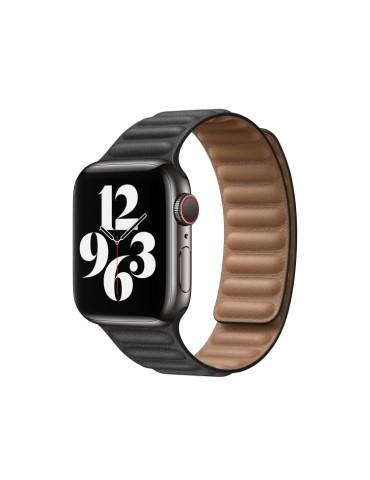 Δερμάτινο λουράκι με οριζόντιες γραμμές για το Apple Watch 42/44mm (Black)