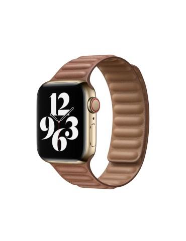 Δερμάτινο λουράκι με οριζόντιες γραμμές για το Apple Watch 42/44mm (Brown)