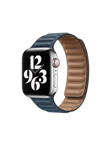 Δερμάτινο λουράκι με οριζόντιες γραμμές για το Apple Watch 42/44mm (Blue)