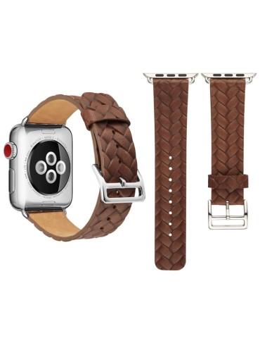Δερμάτινο λουράκι Cowhide Embossed Pattern για το Apple Watch 42/44mm (Coffee)