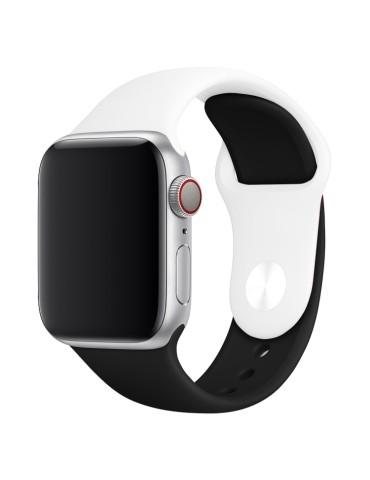 Λουράκι σιλικόνης για το Apple Watch 42/44mm (Black/ White)