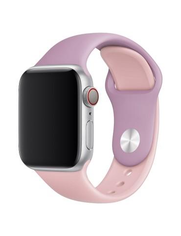 Λουράκι σιλικόνης για το Apple Watch 42/44mm (Purple+Light Pink)