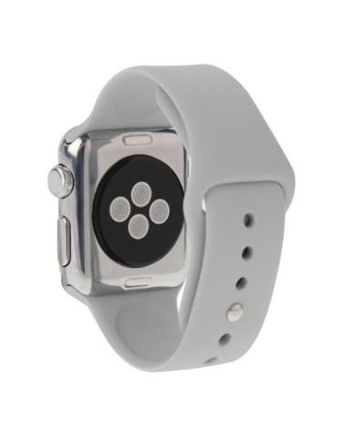 Λουράκι σιλικόνης για το Apple Watch 42/44mm με Pin-and-tuck Closure(Silver)