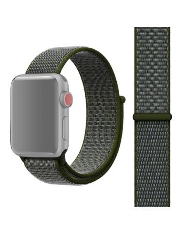 Υφασμάτινο λουράκι για το για το Apple Watch 42/44mm (Army Green)