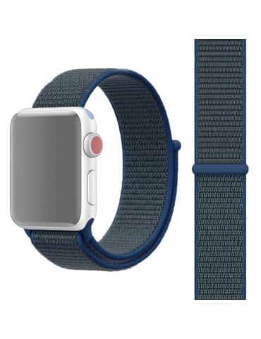 Υφασμάτινο λουράκι για το για το Apple Watch 42/44mm (Dark Blue)