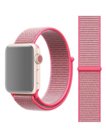 Υφασμάτινο λουράκι για το για το Apple Watch 42/44mm(Pink)
