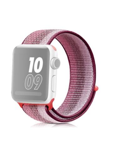 Υφασμάτινο λουράκι για το για το Apple Watch 42/44mm (Berry Color)