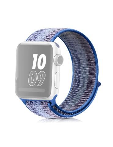 Υφασμάτινο λουράκι για το για το Apple Watch 42/44mm (Striped Lake Blue)