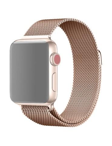 Μεταλλικό λουράκι με μαγνητικό κλείσιμο για το  Apple Watch 42/44mm (Champagne)