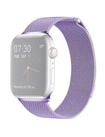 Μεταλλικό λουράκι με μαγνητικό κλείσιμο για το  Apple Watch 42/44mm (Light Purple)