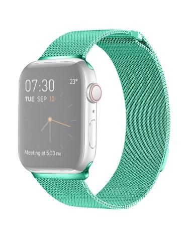 Μεταλλικό λουράκι με μαγνητικό κλείσιμο για το  Apple Watch 42/44mm (Mint Green)