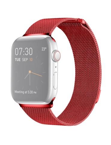 Μεταλλικό λουράκι με μαγνητικό κλείσιμο για το  Apple Watch 42/44mm (Red)