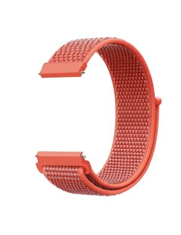 Yφασμάτινο λουράκι με αυτοκόλλητο κλείσιμο για το HiFuture HiGear (42mm) /(46mm)-(Apricot orange)