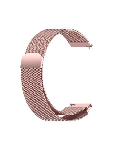Mεταλλικό λουράκι με μαγνητικό κλείσιμο για το Amazfit GTR 47mm  -(Rose Pink)