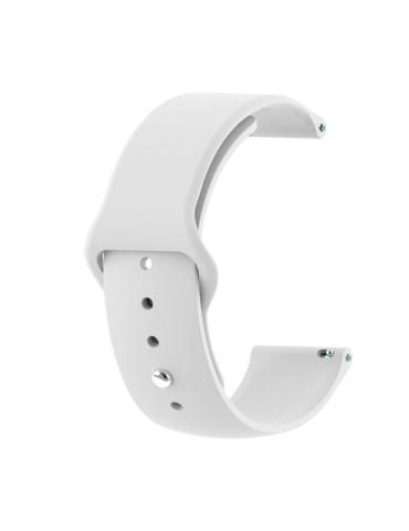 Λουράκι σιλικόνης με εσωτερικό κούμπωμα για το HiFuture HiGear-(White)