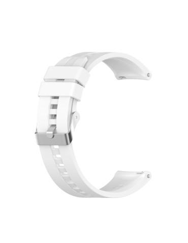 Λουράκι σιλικόνης με ασημί κούμπωμα Για Το Amazfit GTR 47mm -(White)