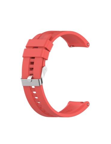 Λουράκι σιλικόνης με ασημί κούμπωμα Για Το Amazfit GTR 47mm -(Red)