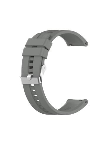 Λουράκι σιλικόνης με ασημί κούμπωμα Για Το Amazfit GTR 47mm -(Grey)