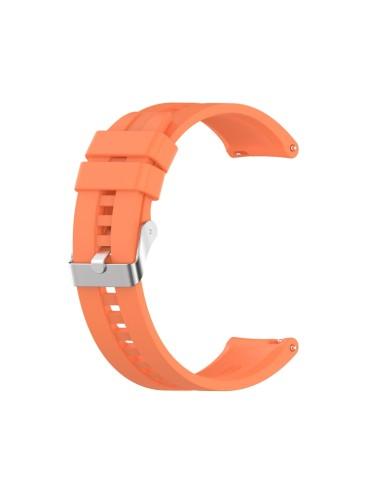 Λουράκι σιλικόνης με ασημί κούμπωμα Για Το Amazfit GTR 47mm -Vitality Orange)