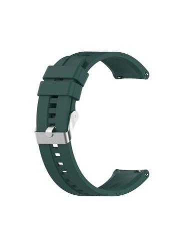 Λουράκι σιλικόνης με ασημί κούμπωμα Για Το Amazfit GTR 47mm -(Dark Green)