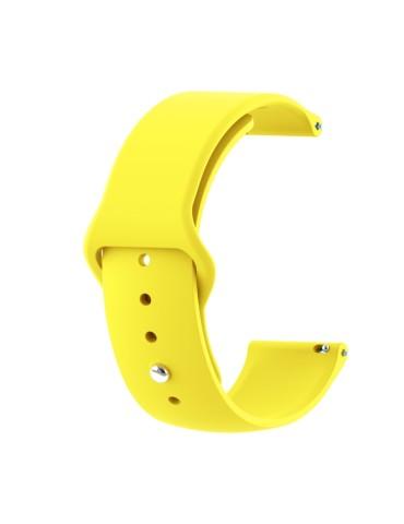 Λουράκι σιλικόνης με εσωτερικό κούμπωμα για το Amazfit GTR 47mm  -(Yellow)