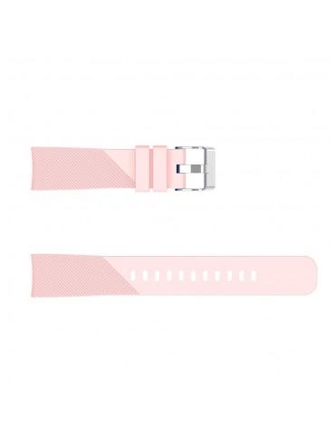 Twill Texture λουράκι σιλικόνης για το Amazfit GTR 42mm-Pink