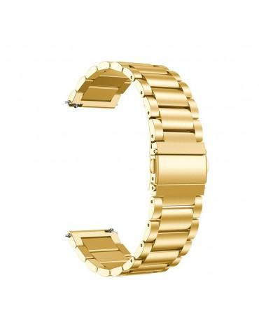 Μεταλλικό λουράκι stainless steel για το Huawei Watch GT/GT 2 (46mm)/ GT 2e /GT Active/Honor Magic/Watch 2 Classic -Gold