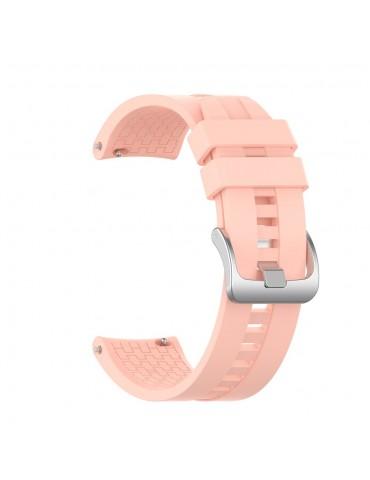 Λουράκι σιλικόνης με hexagon texture για το Galaxy Watch 46mm/GEAR S3 CLASSIC / FRONTIER / Watch 3 (45mm) - Pink