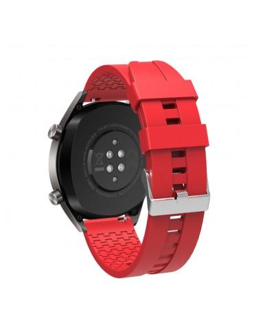 Λουράκι σιλικόνης με hexagon texture για το Huawei Watch GT/GT 2 (46mm)/ GT 2e /GT Active/Honor Magic/Watch 2 Classic - Red