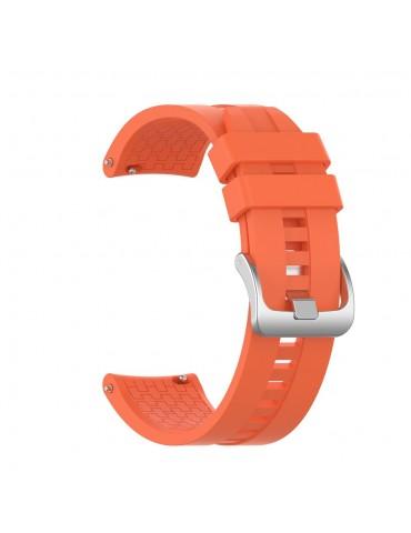 Λουράκι σιλικόνης με hexagon texture για το Amazfit GTR 47mm- Orange
