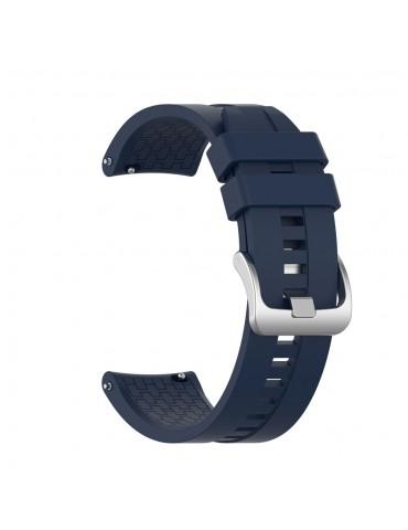 Λουράκι σιλικόνης με hexagon texture για τοHuawei Watch GT/GT 2 (46mm)/ GT 2e /GT Active/Honor Magic/Watch 2 Classic - Dark Blue