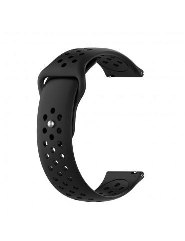 Λουράκι σιλικόνης με τρύπες για το Huawei Watch GT/GT 2 (46mm)/ GT 2e /GT Active/Honor Magic/Watch 2 Classic - Black