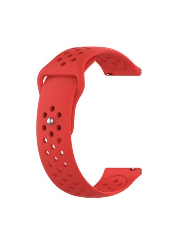 Λουράκι σιλικόνης με τρύπες για το Huawei Watch GT/GT 2 (46mm)/ GT 2e /GT Active/Honor Magic/Watch 2 Classic - Red