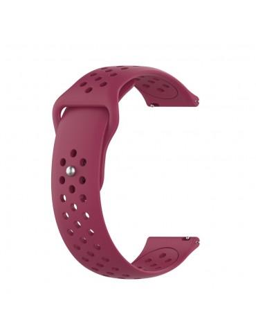 Λουράκι σιλικόνης με τρύπες για το Huawei Watch GT/GT 2 (46mm)/ GT 2e /GT Active/Honor Magic/Watch 2 Classic - Wine Red
