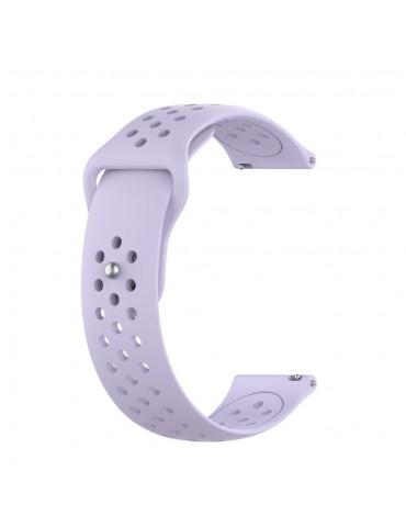 Λουράκι σιλικόνης με τρύπες για το Huawei Watch GT/GT 2 (46mm)/ GT 2e /GT Active/Honor Magic/Watch 2 Classic- Light Purple
